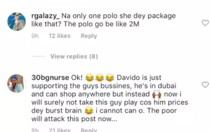 Reaction - Davido Buys 7-Shirts, Watches For N4.4m In Dubai – Fans React
