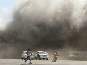 Yemen War 300x225 - 20 Killed, 50 Injured As Suspected Houthi Rebels Attack Aden Airport