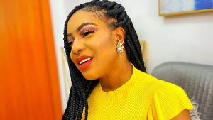 chika ike yellow dress outfit 300x169 - Nollywood Actress, Chika Ike's 'Destined Husband And Location' Revealed