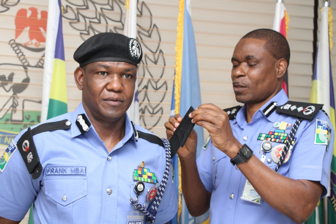 frank mba and IGP mohammed adamu - Police PRO, Frank Mba Promoted To Commissioner Of Police (Photos)
