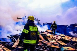 ketu2 300x200 - PHOTOS: Fire Guts Ketu Plank Market In Lagos