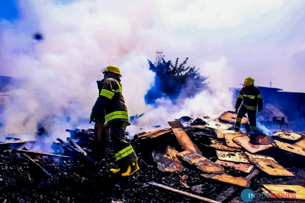 ketus3 1024x683 - PHOTOS: Fire Guts Ketu Plank Market In Lagos