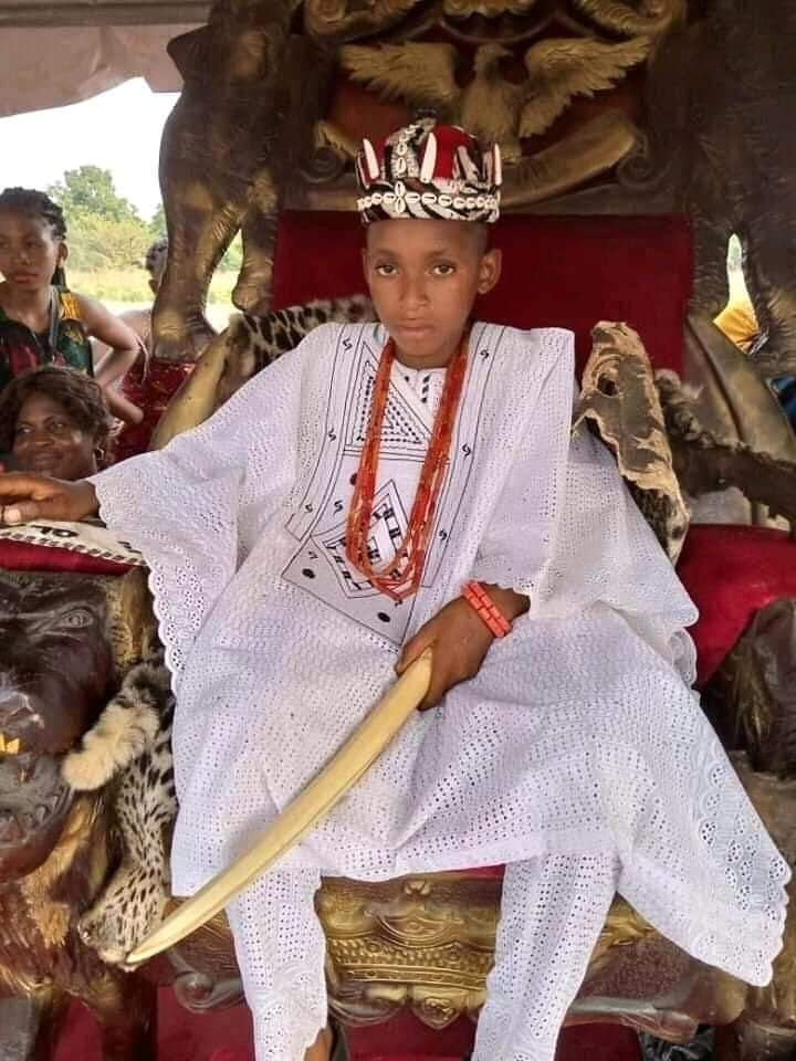10 year old boy - 10-Year-Old Boy Becomes Youngest Monarch In Anambra