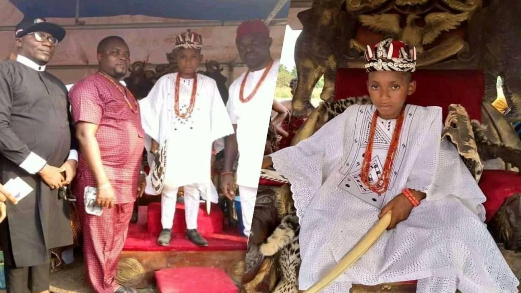 10yr old boy2 1024x576 - 10-Year-Old Boy Becomes Youngest Monarch In Anambra