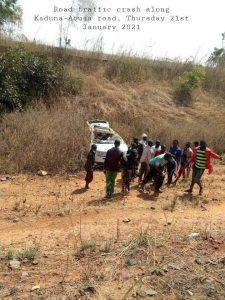 Accident along Kaduna Abuja Road 225x300 - 15 People Die In Fresh Kaduna-Abuja Road Crash