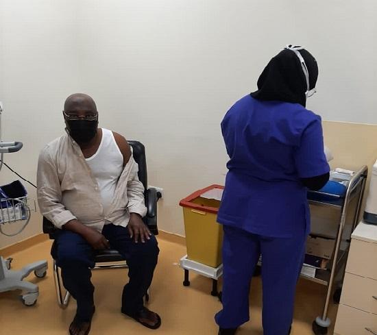 Atiku takes COVID19 vaccine 1 - Atiku Abubakar Receives Second COVID-19 Vaccine (Photos)