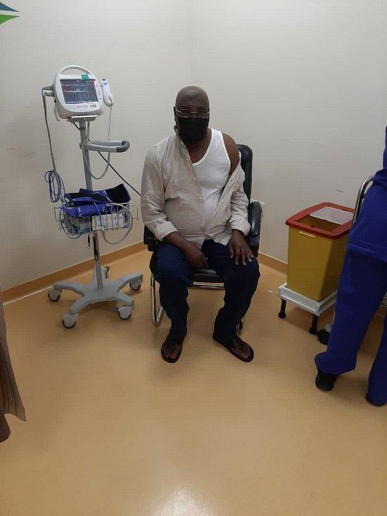 Atiku takes COVID19 vaccine 2 - Atiku Abubakar Receives Second COVID-19 Vaccine (Photos)