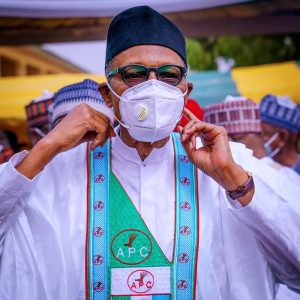 Buhari APC nosemask 300x300 - No More Imposition In APC From Abuja – Buhari