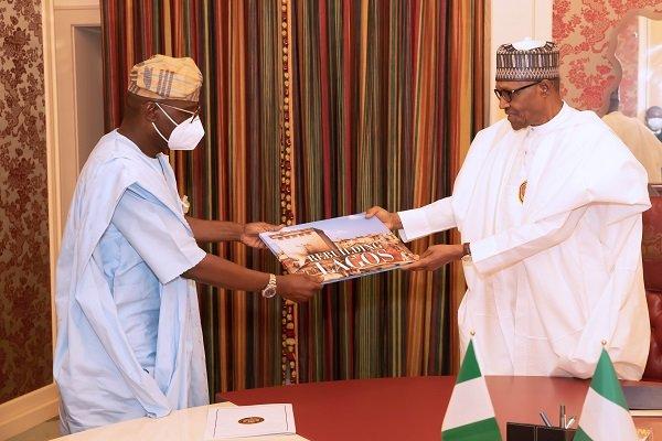 Buhari and sanwo - President Buhari Meets Sanwo-Olu In Aso Villa (Photos)