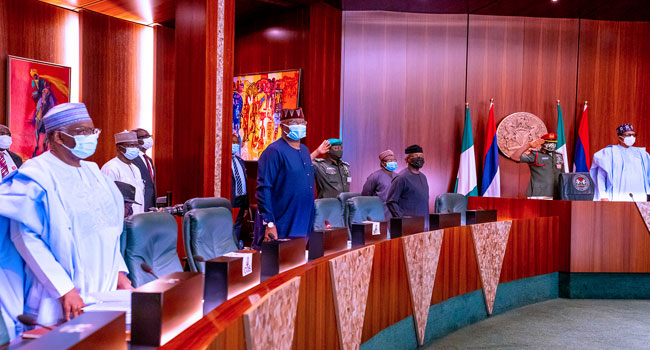 FEC Meeting Jan 27 - FEC: Council Members Observe A Minute Silence In Honour Of Three Late Ministers (Photos)