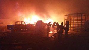Fire 300x169 - BREAKING: Lagos Railway Terminal On Fire