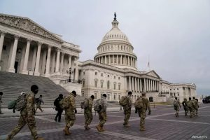 Members of the National Guard arrive at the U.S. Capitol January 11 2021 days after supporters of U.S. President Donald Trump stormed the Capitol in Washington. 300x200 - United States: Up To 15,000 National Guard Troops Mobilized For Biden's Inauguration
