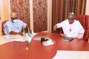 PRESIDENT BUHARI RECEIVES LAGOS GOV SANWO OLU 5 300x200 - President Buhari Meets Sanwo-Olu In Aso Villa (Photos)