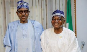President Buhari and Garba Shehu 300x181 - Service Chiefs: Buhari Fully In Charge, Seeing What Others Are Not Seeing – Garba Shehu