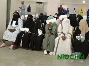 Stranded Nigerians2 300x223 - Stranded Nigerians Evacuated From Saudi Arabia Reject Quarantine (Video)