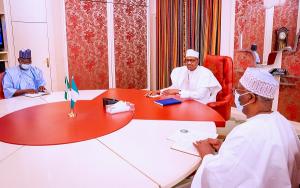 Sule and Buhari 300x188 - Details Of Meeting Between Buhari, Gov Sule Emerge