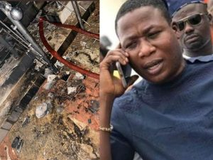 Sunday Igboho House Attack 300x225 - Hoodlums Fired Gunshots Before Setting Igboho's House Ablaze – Police