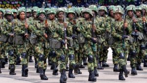 female soldiers 300x169 - Army Deploys 300 Female Soldiers To Tackle Bandits In Kaduna