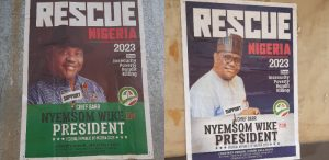 wike campaign 300x146 - Gov. Wike Breaks Silence On Presidential Campaign Posters In Abuja