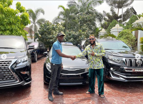 602ea0c3c7555 - E-Money Presents Luxury Cars To His Friends On His Birthday (Photos)