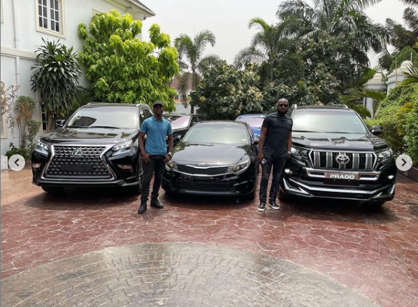 602ea0ffea367 - E-Money Presents Luxury Cars To His Friends On His Birthday (Photos)