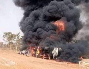 An oil tanker exploded in the Gawu area of the Federal Capital Territory Abuja 300x233 - Oil Tanker Explosion Kills 11 In Abuja