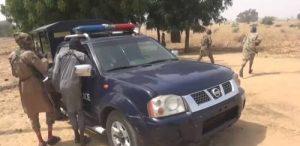 Boko haram 2 300x146 - Boko Haram Capture, Destroy Police Vehicles In Borno (Photos)