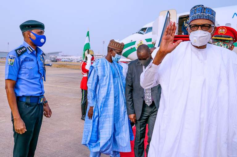 Buhari returns 2 - President Buhari Arrives Abuja From Daura (Photos)