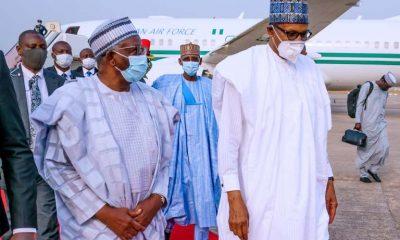 Buhari Returns To Abuja From Daura [Photo]