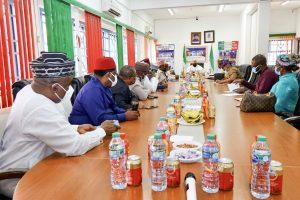 Bukola Saraki and PDP Reconciliation Committe 300x200 - Breaking: Bukola Saraki, PDP Reconciliation Committee Meets Former Govs