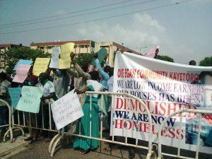 DEMOLITION PROTEST 300x225 - Lekki: Lagos Landlords Storm Assembly, Protest Against Demolition Of 400 Buildings