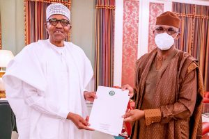 Dapo Abiodun 1 300x200 - Abiodun Presents Ogun Farmers-Herders Crisis Report To Buhari (Photos)