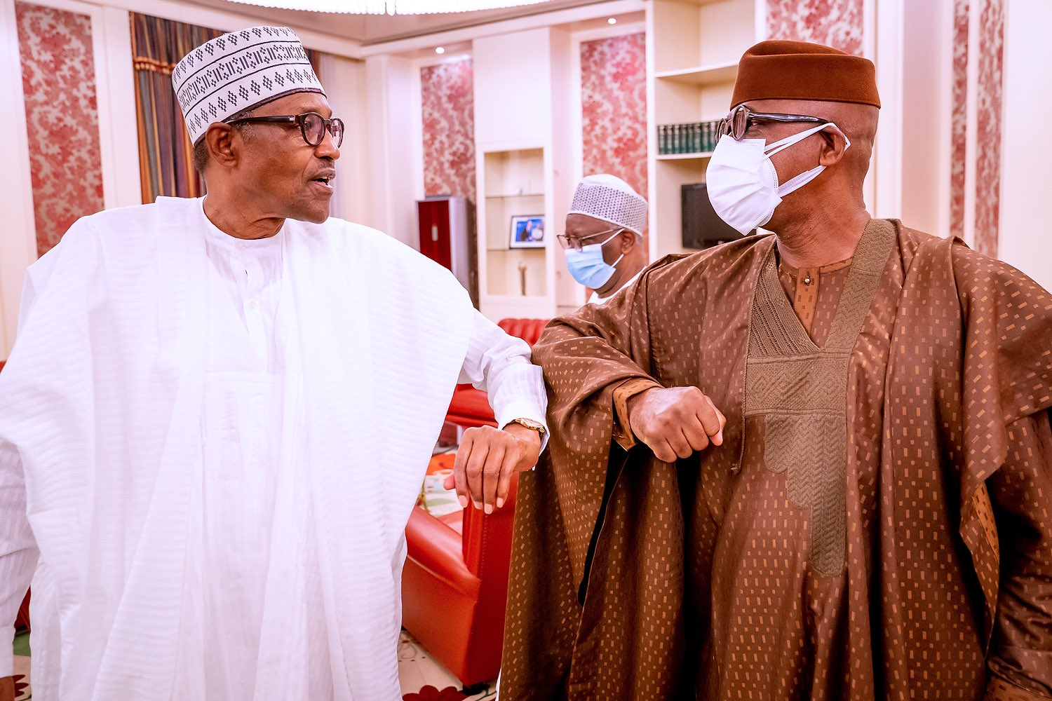 Dapo Abiodun with Buhari - Abiodun Presents Ogun Farmers-Herders Crisis Report To Buhari (Photos)