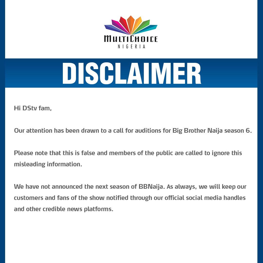 EuGnhOSXIAElUd6 - DSTV Gives Update On Big Brother Naija Season 6 Audition