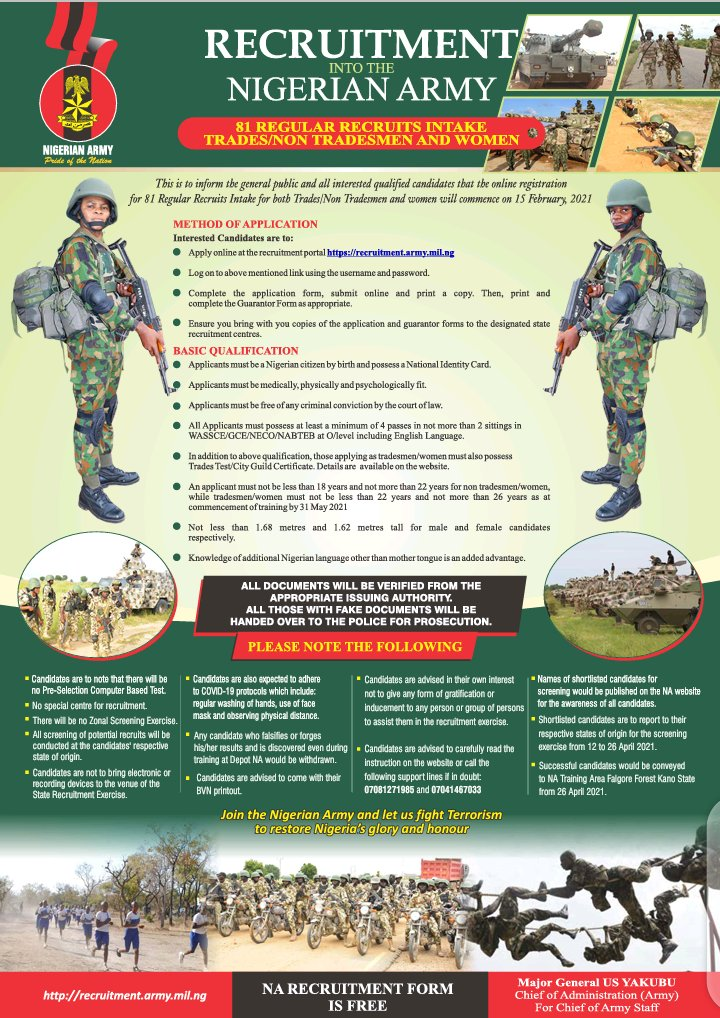 EuKmnFbXMAE13xb - Nigerian Army Begins Fresh Recruitment See Details And How To Apply