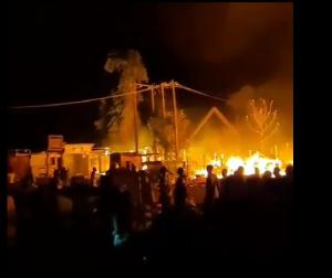 Fire at Gwarimpa Market pic 300x252 - Bandits Burn Down Church, Two Homes In Kajuru, Kaduna