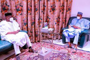 Gov Bello of Niger State and President Buhari 300x200 - Kagara School Abduction: Niger Governor Briefs Buhari In Aso Rock