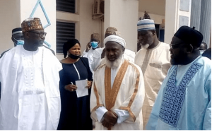 Gumi and Niger State Governor Abubakar bello 300x187 - Kagara School Abduction: Details Of Meeting Between Sheikh Gumi And Niger Governor Emerges