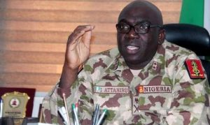 Ibrahim Attahiru 300x179 - You Have 48 Hours To Take Back LGA Captured By Boko Haram – Attahiru Tells Troops