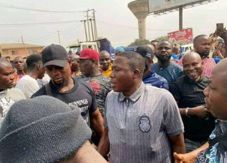 BREAKING: Gunmen Abduct Sunday Igboho's Wife