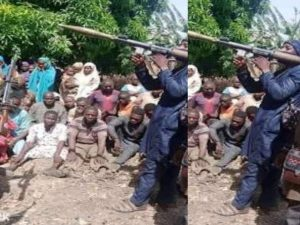 Niger State Kidnappers 300x225 - Video: Kidnappers Send Message To Security Agencies Over Niger Abduction