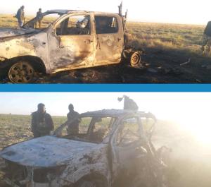 Nigerian Troops destroy Boko Haram Guntrucks in Rann 300x265 - Troops Engage Boko Haram In Fierce Battle, Kill 19 Terrorists, Destroy Gun Trucks