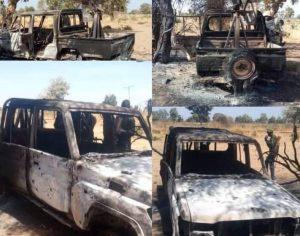 Nigerian troops Attack Boko Haram in Askira Uba Borno State 2 300x236 - Nigerian Military Kills 31 Boko Haram Fighters, Destroy 9 Gun Trucks In Borno
