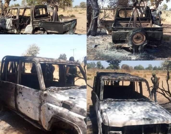 Nigerian troops Attack Boko Haram in Askira Uba Borno State 2 - Nigerian Military Kills 31 Boko Haram Fighters, Destroy 9 Gun Trucks In Borno