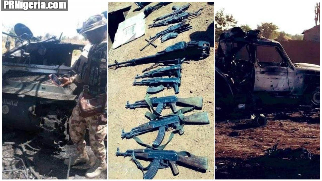Nigerian troops Attack Boko Haram in Askira Uba Borno State - Nigerian Military Kills 31 Boko Haram Fighters, Destroy 9 Gun Trucks In Borno