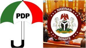 NxAGXIuJ 1024x576 1 300x169 - Non-Career Ambassdors: You Betrayed Nigerians For Confirming Buratai, Others – PDP Condemns Senate