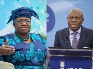 Okonjo Iweala and Houngbo 300x225 - WTO DG, Okonjo-Iweala Reacts To Houngbo's Reelection As IFAD President