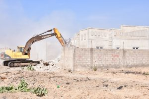 One of the houses destroyed during the demolition work. 300x200 - Zulum Demolishes 1,330 Houses In Maiduguri