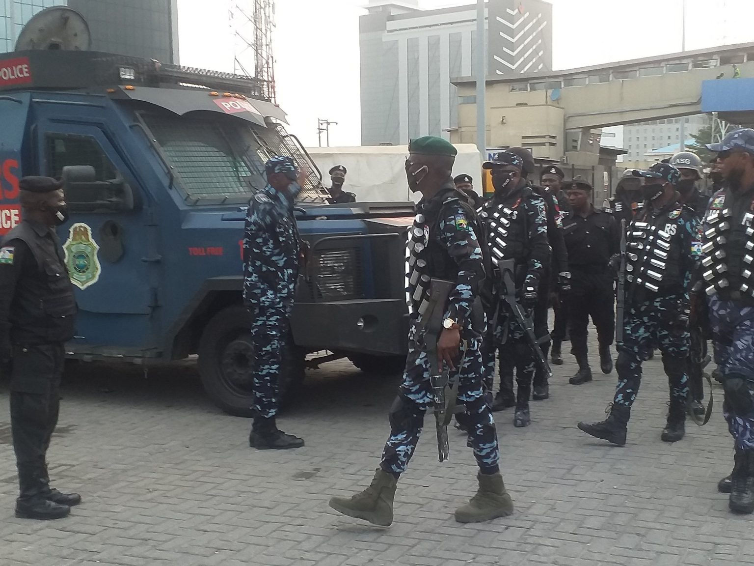Police toll gate 1536x1152 1 - Protest: Police Deployed To Lekki Toll Gate (Photos)