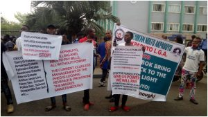Protest in Rivers 300x169 - Youths Protest Over 2-Years Of No Electricity In Cross River LGs